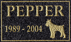 Black Granite Pet Memorial